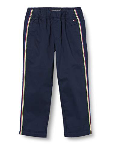 Tommy Hilfiger Jungen Pull On Tape Chino Pants Hose, Blau (Twilight Navy 654-860 C87), Jahre (Herstellergröße: 14)
