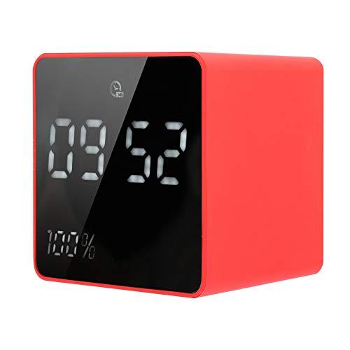 Uxsiya Horloge électronique Lecteur Audio Bluetooth Puissant Haut-Parleur Rechargeable sans Fil ABS pour la Maison avec Batterie et Affichage de l'horloge