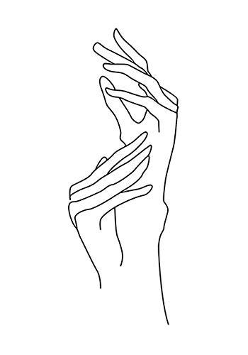 N / A Abstract Lady Line Figura Humana Figura decoración del hogar nórdico sin Marco Lienzo Pintura Arte de la Pared Cartel Minimalista e impresión Dormitorio de niña F-33 40x60cm sin Marco
