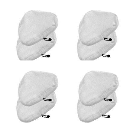 Marbeine Mikrofaser-Reinigungstücher für Dampfreiniger, H2O, waschbar, Ersatz, dreieckig, 8 Stück