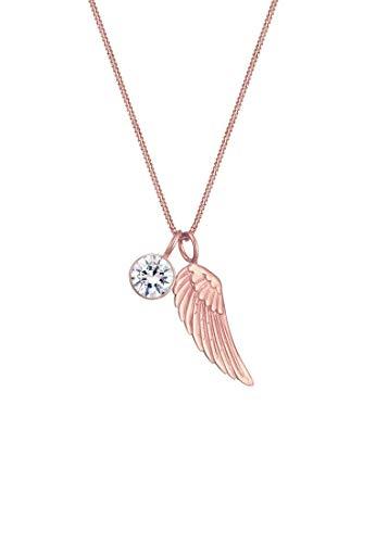 Elli Halskette Damen Flügel Funkelnd mit Swarovski® Kristallen aus 925 Sterling Silber