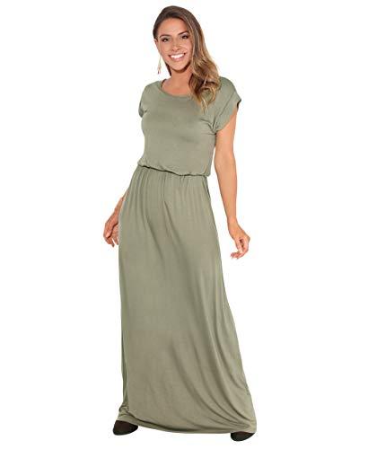 KRISP 3269-KHA-12 Damen Leichtes Kleid (Khaki, Gr.40)