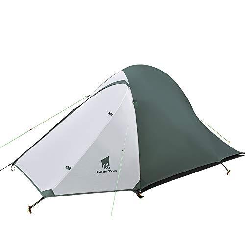GEERTOP Ultraleichte Camping Zelt 2 Personen Wasserdicht 3-4 Saison Doppelwandig Zelt für Wandern Outdoor Festival