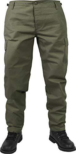 normani Herren Trekking Hose mit verstellbarem Hosenbund Farbe Oliv Größe 4XL