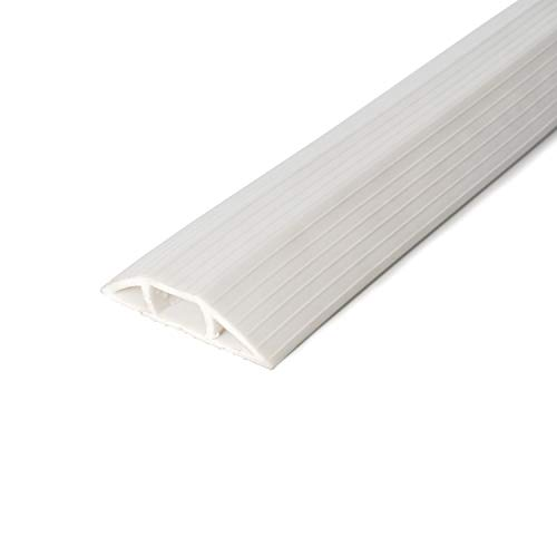 Cable Man 6000-W10C Floor Cord Cover Protector for Cable Management, 3 in. x 10 ft, Ivory