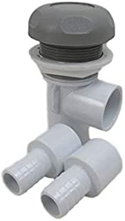 Hot Tub Spa Part Gray Waterfall Valve with (2) 3/4