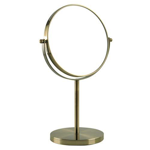 lqgpsx Miroir grossissant Rasage/Maquillage Rond 3X Grossissant à 360 °; Miroir cosmétique Compact de Poche pivotante pour Chambre à Coucher de Voyage