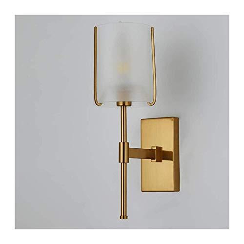 YONGYONGCHONG Lámpara de pared de vidrio lámpara de pared creativa lámpara de cabecera simple LED sala de estar fondo pasillo lámpara de pared 12 * 37 (CM) iluminación
