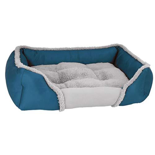 MCSHGPETY huisdier hond kussen bed, grote hond wasbaar zacht schuim waterdichte matras mand bed bank mat, L, Lichtblauw