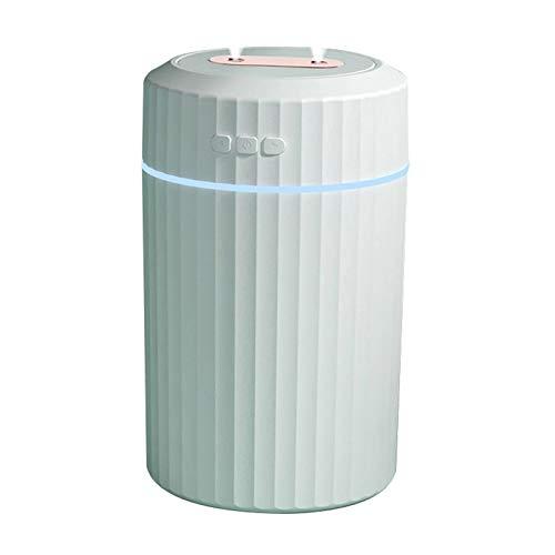 Difusor De Aceite Esencial De 2 L, Difusor De Aroma Silencioso Doble Pulverización Humidificador USB De Gran Capacidad para Habitación Bebé SPA En Casa,Blanco