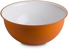Omada Design Saladier 6,5 litres 32,5 x 15,5 cm, blanc à l'intérieur et coloré à l'extérieur, en plastique antibactérien...