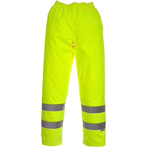 "Viking Open Road 150 Denier Trilobal Rip-Stop Hi-Vis Safety Rain Pants with 2"" Vi-brance Reflective Tape, Green, X-Large"
