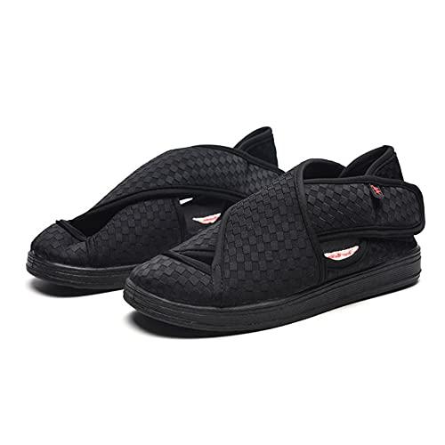 WENHUA Mujer Zapatillas Zapatos Diabeticos, Nueva Pasta mágica de ensanchamiento de Verano, Black_40, Espuma De Memoria Zapatillas para DiabéTicos