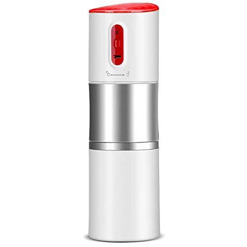 ZUEN Hochwertige Kaffeemühle Tragbare Auto Kaffeemühle USB Charge Kaffeemaschine Edelstahl Tasse Kaffeemühle,Weiß