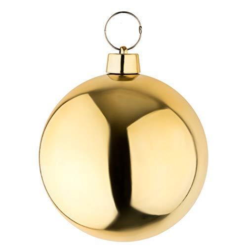 your castle Bola de Navidad Grande Bola para el árbol de Navidad en Color Dorado Brillante de 25 cm de diámetro Interiores y Exteriores Resistente a la Intemperie.