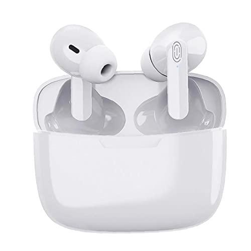 Tuimiyisou Ergonómicos estéreo inalámbrico Bluetooth de los Auriculares del Y113 TWS Tacto Blanco de Control de cancelación de Ruido de Carga Caso