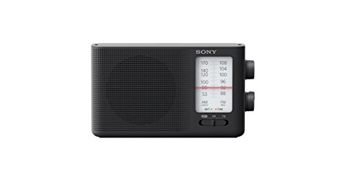 Sony Dual Band FM/AM Analog Portable Battery Radio Home Audio Radio Black (ICF-19)