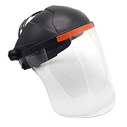 PRETYZOOM Gesichtsschutzschild Helm Visier Augenschutz Vollgesichtsschutz Anti-Splash Freischneider Gesichtsschild Anti-Beschlag Schweißschutz für Garten Arbeit Küche Kochen