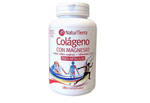 Colágeno con magnesio, calcio, silicio orgánico y vitaminas C y D bote 180 comprimidos