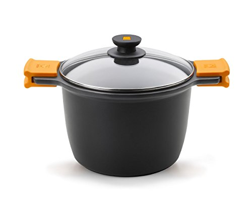 BRA Olla para estofados, Metal, Negro, 20 cm