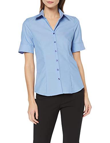 Seidensticker Damen Bluse , Blau (Mittelblau 14), 42