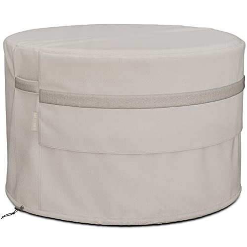 MR.COVER 36 inch Round Fire Pit Cover, Fit for 32-35 inch Fire Pit Table, Heavy Duty Waterproof Outdoor Small Table Cover - 36 Dia x 24 H