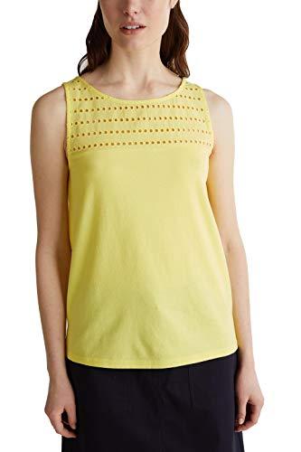 ESPRIT 040ee1k334 T-Shirt, 743/Bright Yellow 4, M Donna