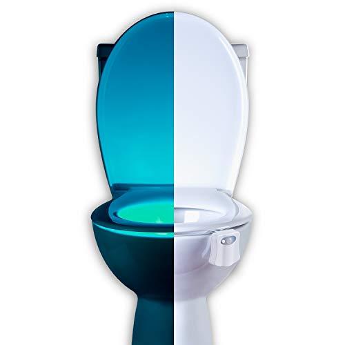 Toilet Bowl Night Light with Motion Sensor LED by RainBowl - Funny & Unique Birthday Gift Idea for Men, Him, Dad, Boyfriend, Husband, Women, Her, Mom - Cool Fun Gadget, Best Gag Housewarming Present