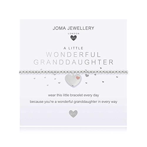Joma Jewellery Children's A Little Wonderful Granddaughter Silver Bracelet | 15.5cm Stretch