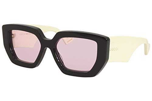 Gucci GG0630S zonnebril Black Ivory / PINK 55/19/145 dames