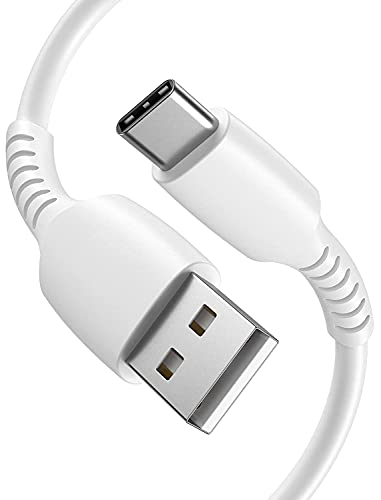 iPro Accessories Nokia G10 Tipo C, Cable de carga Nokia G10, Cable de carga rápida tipo C [2M] 2.4A USB, cable de carga USB-A a USB-C para Nokia G10 (blanco)