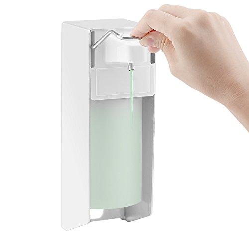 ALLOMN Seifenspender, 1000 ml / 500 ml Wandspender Pressspender Manueller Typ Seifendesinfektionsspender Ellenbogen drücken Handdrücken für Zuhause Büro Schule Krankenhaus (500ML)