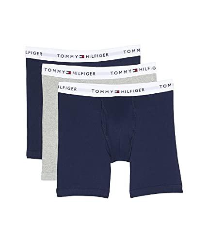 Tommy Hilfiger Men's Underwear Multipack Cotton Classics Boxer Briefs, Dark Navy, Small