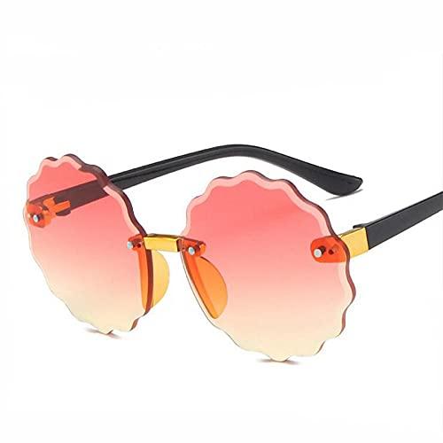 DLSM Crianças Do Vintage Óculos de Sol Meninas Meninas Redondos Óculos de Sol Meninos Moda Adorável Bebê Óculos Crianças Gafas-Amarillo Rojo