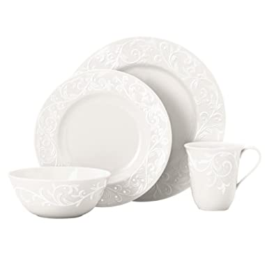 Lenox Opal Innocence Carved 20-Piece Dinnerware Set