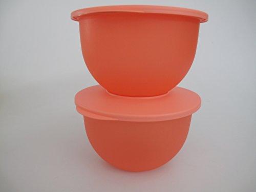 TUPPERWARE Junge Welle 2,5 L pastellorange (2) Schüssel Servierschale Schale