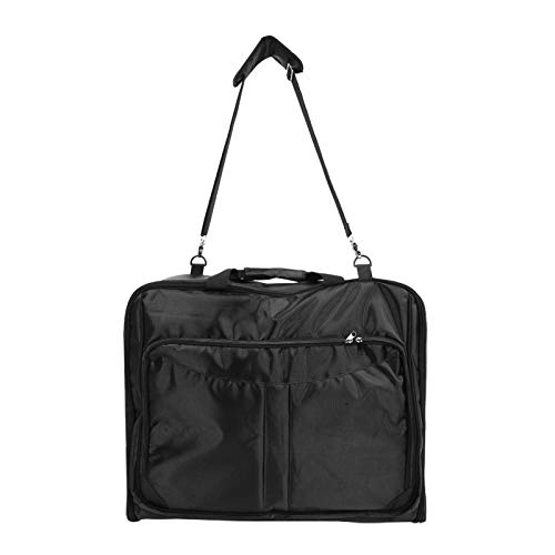CHICIRIS Travel Bag Suit Carrier, Waterproof Mens Garment Bag for Travel Business, Large Leather Duffel Bag with Shoe Compartment