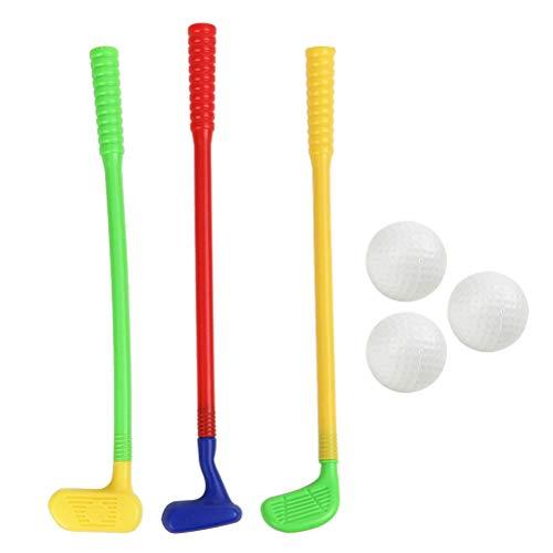 TOYANDONA Kinder-Golfschläger-Set, Kunststoff, Mini-Golfspiel-Spielzeug für den Garten
