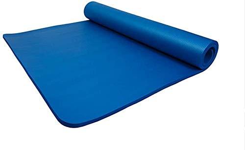 MIYUEZ Yogamatte 20 Mm Dicke NBR-Fitnessmatte 100CM Verbreitertes Pilates-Kissen Picknickmatte Umweltschutz 200 * 100 * 2cm Sportmatte Phthalatfrei Hautfreundliche Gymnastikmatte,Blue