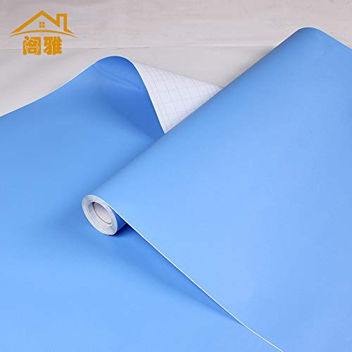 Marmer behang zelfklevende waterdicht, Meubilair Counter Sticker Kast Olie-Proof Film Home Color Film F8057, 61cm*50 Meter 3013 sky blue, 60cm 12