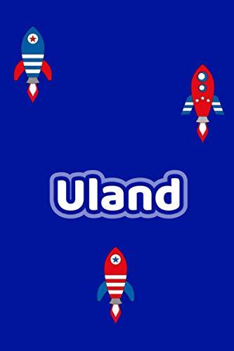 Uland: Personalisiertes Vornamen Notizbuch / Tagebuch - 120 Seiten - Punkteraster - Format 6x9 ca. DIN A5