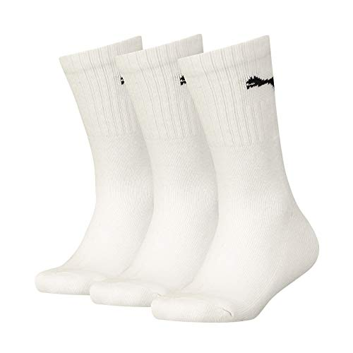 PUMA Kinder SPORT JUNIOR 3P Socken, white, 31-34 (3er Pack)