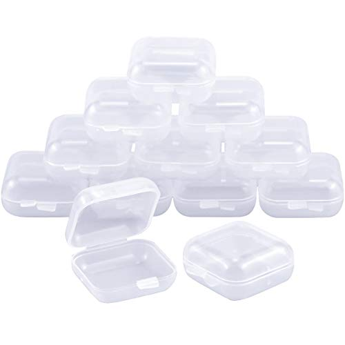 Dokpav 12pcs aufbewahrungsbox klein, Aufbewahrungsboxen mit Deckel, Mini Durchsichtige Aufbewahrungsbehälter Box,plastikbox für Artikel,Pillen,Kräuter, kleine Perlen, Schmuckzubehör,kleine Gegenstände