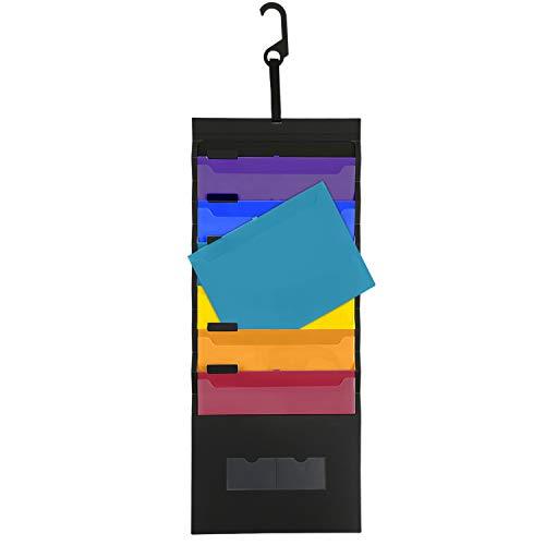 Carpeta Archivo Colgante de Pared para Aula/Office/Home,UBAYMAX Organizador de Archivo de Pared en 6 Bolsillos,Tamaño de Carta Plegable Vertical Carpeta de Archivo para Asignaciones/Archivos/Papeles