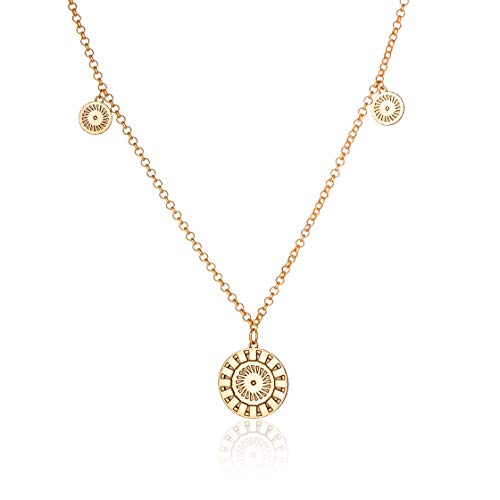 Honey Minx Women's Radiant Multi-Coin Necklace Gold