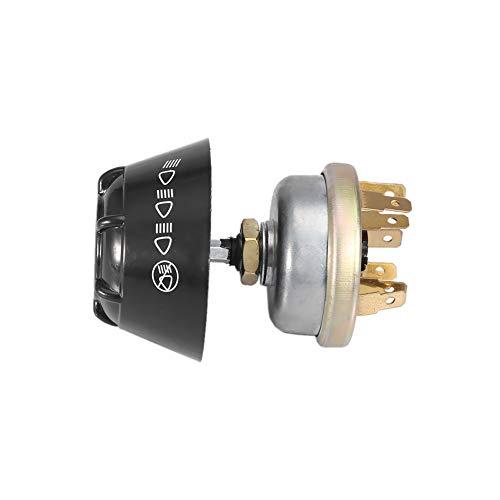 Interruptor pulsador de bocina para ahorrar espacio, interruptor de bocina impermeable de aluminio de 12 V, interruptor de luz fácil de usar Landini para caja de David Brown/IH LUCAS