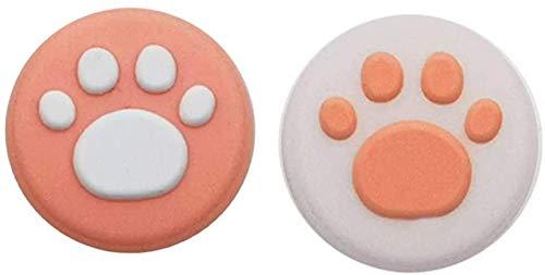 Funda de silicona analógica para palanca de mando de mando de Nintendo Switch NS NX Joy-Con (rosa)