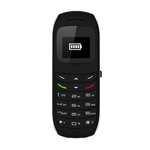 Esenlong Desbloqueado Bluetooth Mini teléfono móvil Bluetooth Mini teléfono móvil BM70 GSM Auricular marcador Soporte tarjeta SIM 0. 66 pulgadas blanco, negro (opcional) para GSM 900/1800/850/1900Hz