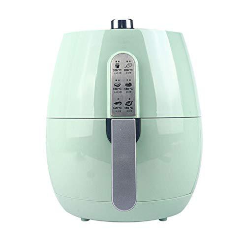 WUYI Fritteusen 1350 Watt 5,2 Liter Heißluftfritteuse Smart Touchscreen Kartoffelchip-Maschine Einstellbare Temperaturregelung Ölfreie Haushaltskochgeräte