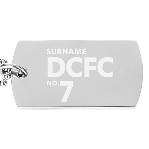 Personalised Official Derby County Number Dog Tag Pendant